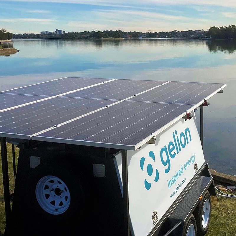 Desalination trailer, powered by Gelion Endure