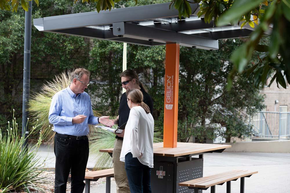 Bringing Light: University of Sydney light benches are turned on
